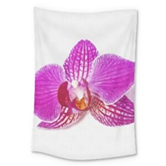 Lilac Phalaenopsis Flower, Floral Oil Painting Art Large Tapestry by picsaspassion
