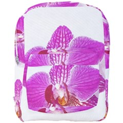 Lilac Phalaenopsis Flower, Floral Oil Painting Art Full Print Backpack by picsaspassion