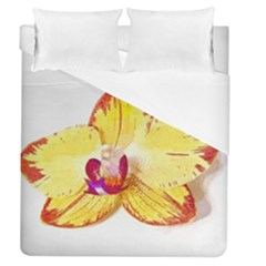 Phalaenopsis Yellow Flower, Floral Oil Painting Art Duvet Cover (queen Size) by picsaspassion