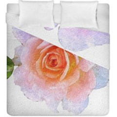 Pink Rose Flower, Floral Oil Painting Art Duvet Cover Double Side (king Size) by picsaspassion