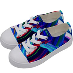 Abstract Acryl Art Kids  Low Top Canvas Sneakers by tarastyle