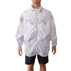 Rose Pink Flower  Floral Pencil Drawing Art Wind Breaker (kids) by picsaspassion