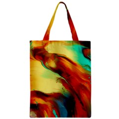 Abstract Acryl Art Zipper Classic Tote Bag by tarastyle