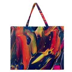 Abstract Acryl Art Zipper Large Tote Bag by tarastyle