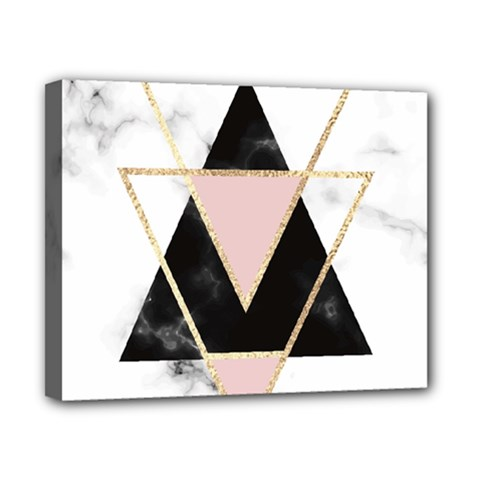 Triangles,gold,black,pink,marbles,collage,modern,trendy,cute,decorative, Canvas 10  X 8  by 8fugoso