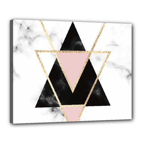 Triangles,gold,black,pink,marbles,collage,modern,trendy,cute,decorative, Canvas 20  X 16  by 8fugoso
