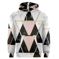 Triangles,gold,black,pink,marbles,collage,modern,trendy,cute,decorative, Men s Pullover Hoodie by 8fugoso