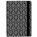 HEXAGON1 BLACK MARBLE & WHITE LINEN (R) iPad Air Flip View2