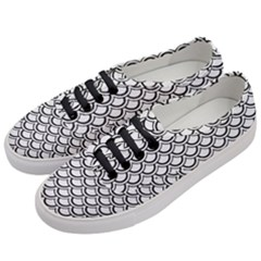 Scales2 Black Marble & White Linen Women s Classic Low Top Sneakers by trendistuff