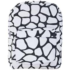 Skin1 Black Marble & White Linen (r) Full Print Backpack by trendistuff