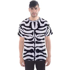 Skin2 Black Marble & White Linen Men s Sports Mesh Tee