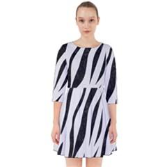 Skin3 Black Marble & White Linen Smock Dress