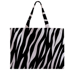 Skin3 Black Marble & White Linen (r) Zipper Mini Tote Bag by trendistuff