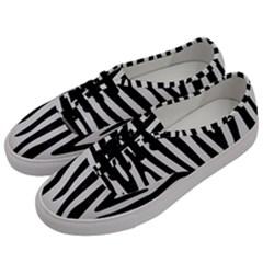 Skin4 Black Marble & White Linen (r) Men s Classic Low Top Sneakers by trendistuff
