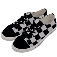 Square1 Black Marble & White Linen Men s Low Top Canvas Sneakers by trendistuff