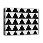 TRIANGLE2 BLACK MARBLE & WHITE LINEN Deluxe Canvas 16  x 12