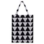 TRIANGLE2 BLACK MARBLE & WHITE LINEN Classic Tote Bag
