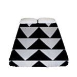 TRIANGLE2 BLACK MARBLE & WHITE LINEN Fitted Sheet (Full/ Double Size)