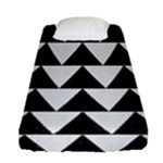 TRIANGLE2 BLACK MARBLE & WHITE LINEN Fitted Sheet (Single Size)