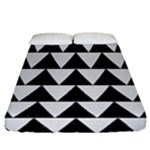 TRIANGLE2 BLACK MARBLE & WHITE LINEN Fitted Sheet (California King Size)
