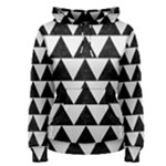 TRIANGLE2 BLACK MARBLE & WHITE LINEN Women s Pullover Hoodie
