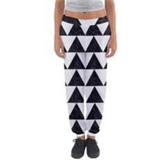 TRIANGLE2 BLACK MARBLE & WHITE LINEN Women s Jogger Sweatpants
