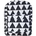 TRIANGLE2 BLACK MARBLE & WHITE LINEN Full Print Backpack View1