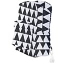 TRIANGLE2 BLACK MARBLE & WHITE LINEN Full Print Backpack View3