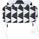 TRIANGLE2 BLACK MARBLE & WHITE LINEN Full Print Backpack View4