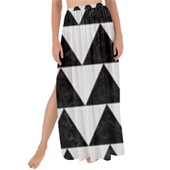 Triangle2 Black Marble & White Linen Maxi Chiffon Tie Up Sarong by trendistuff