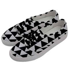 TRIANGLE2 BLACK MARBLE & WHITE LINEN Men s Classic Low Top Sneakers