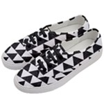 TRIANGLE2 BLACK MARBLE & WHITE LINEN Women s Classic Low Top Sneakers