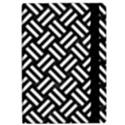 WOVEN2 BLACK MARBLE & WHITE LINEN (R) Apple iPad Pro 12.9   Flip Case View2