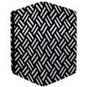 WOVEN2 BLACK MARBLE & WHITE LINEN (R) Apple iPad Pro 12.9   Flip Case View3