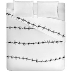 Barbed Wire Black Duvet Cover Double Side (california King Size) by Mariart