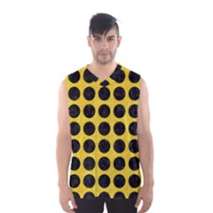 Circles1 Black Marble & Yellow Colored Pencil Men s Basketball Tank Top