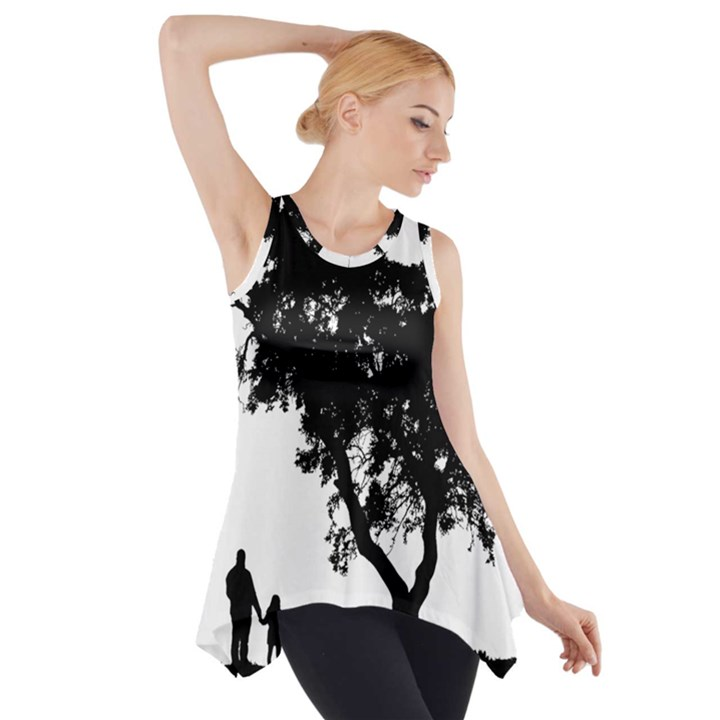 Black Father Daughter Natural Hill Side Drop Tank Tunic
