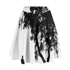 Black Father Daughter Natural Hill High Waist Skirt by Mariart