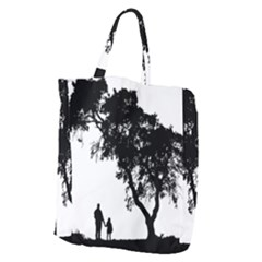 Black Father Daughter Natural Hill Giant Grocery Zipper Tote by Mariart