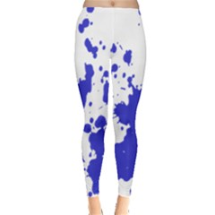 Blue Plaint Splatter Leggings  by Mariart