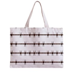 Barbed Wire Brown Mini Tote Bag by Mariart
