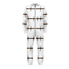 Barbed Wire Brown Onepiece Jumpsuit (kids) by Mariart