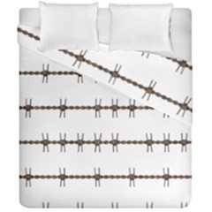 Barbed Wire Brown Duvet Cover Double Side (california King Size) by Mariart