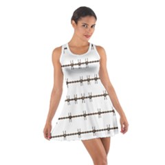 Barbed Wire Brown Cotton Racerback Dress
