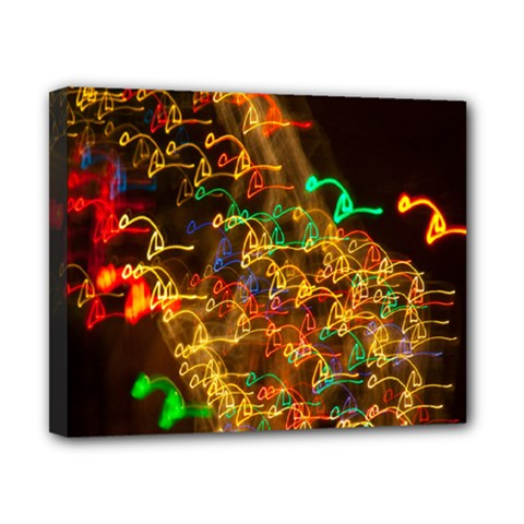 Christmas Tree Light Color Night Canvas 10  X 8