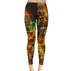 Christmas Tree Light Color Night Leggings  by Mariart