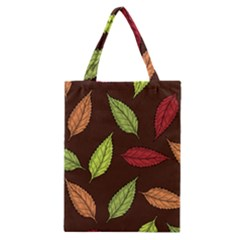 Autumn Leaves Pattern Classic Tote Bag by Mariart