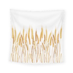 Wheat Plants Square Tapestry (small)