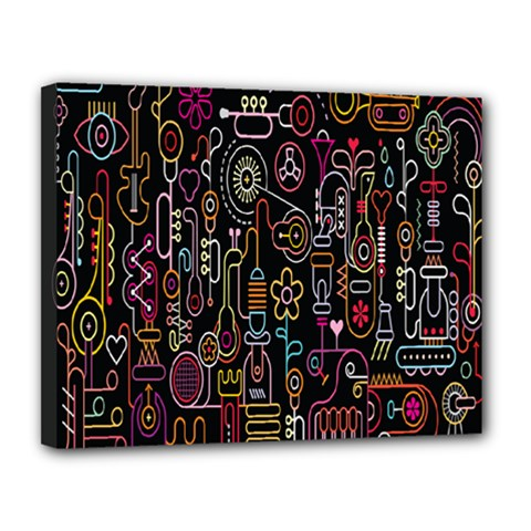 Features Illustration Canvas 14  X 11  by Mariart