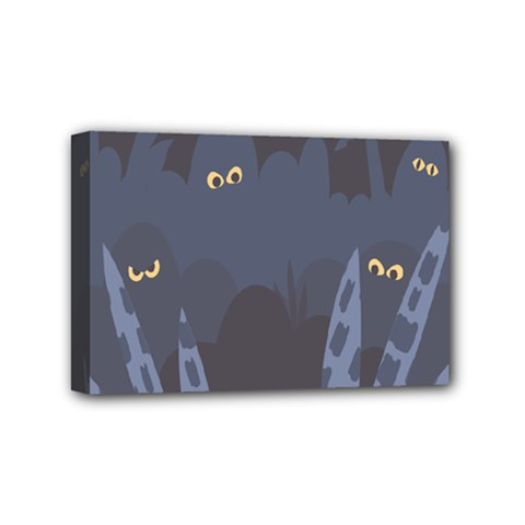 Ghost Halloween Eye Night Sinister Mini Canvas 6  X 4  by Mariart